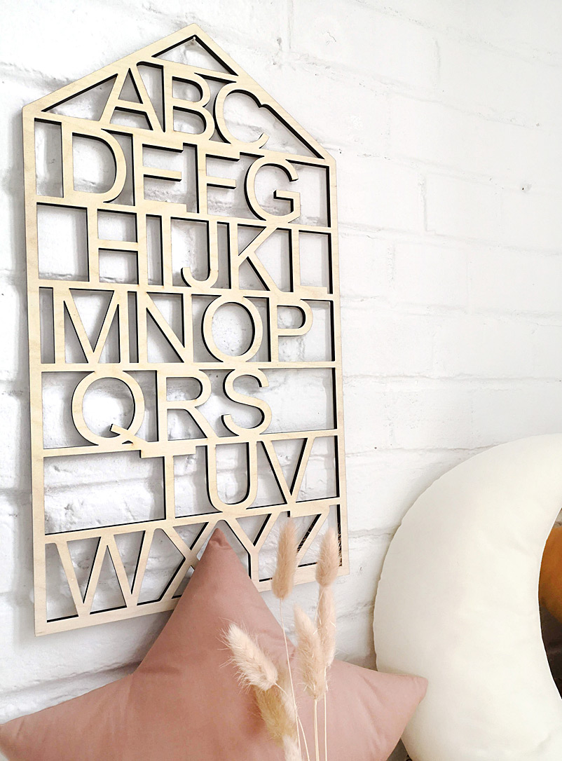 The Butter Flying Assorted Wooden wall alphabet