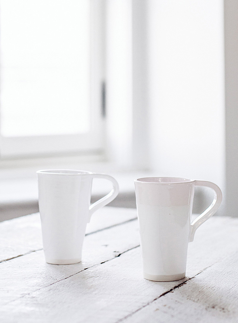 Lookslikewhite White Organic purity mugs  Set of 2