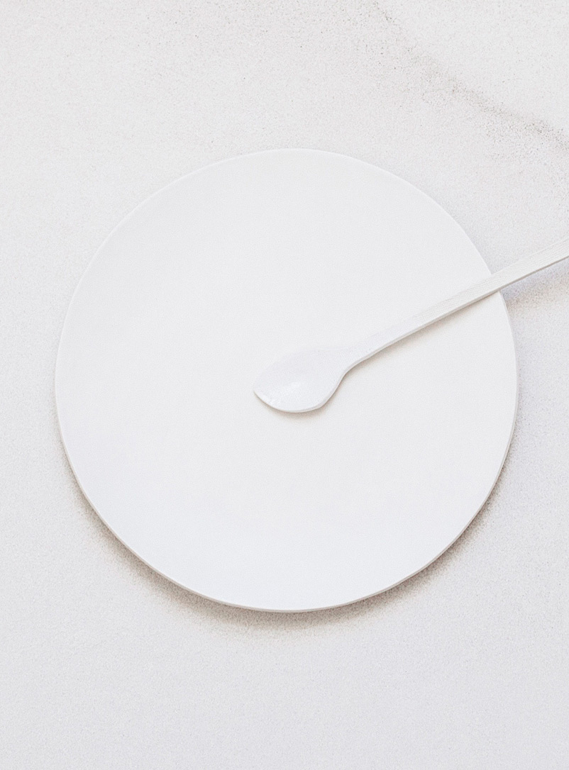 Lookslikewhite White Organic purity dinner plates  Set of 2
