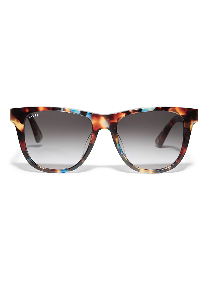 The Go To square sunglasses - Designer - Patterned Blue