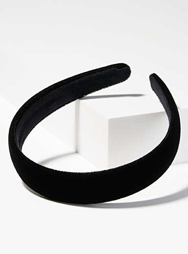 Simons Black Velvet headband for women