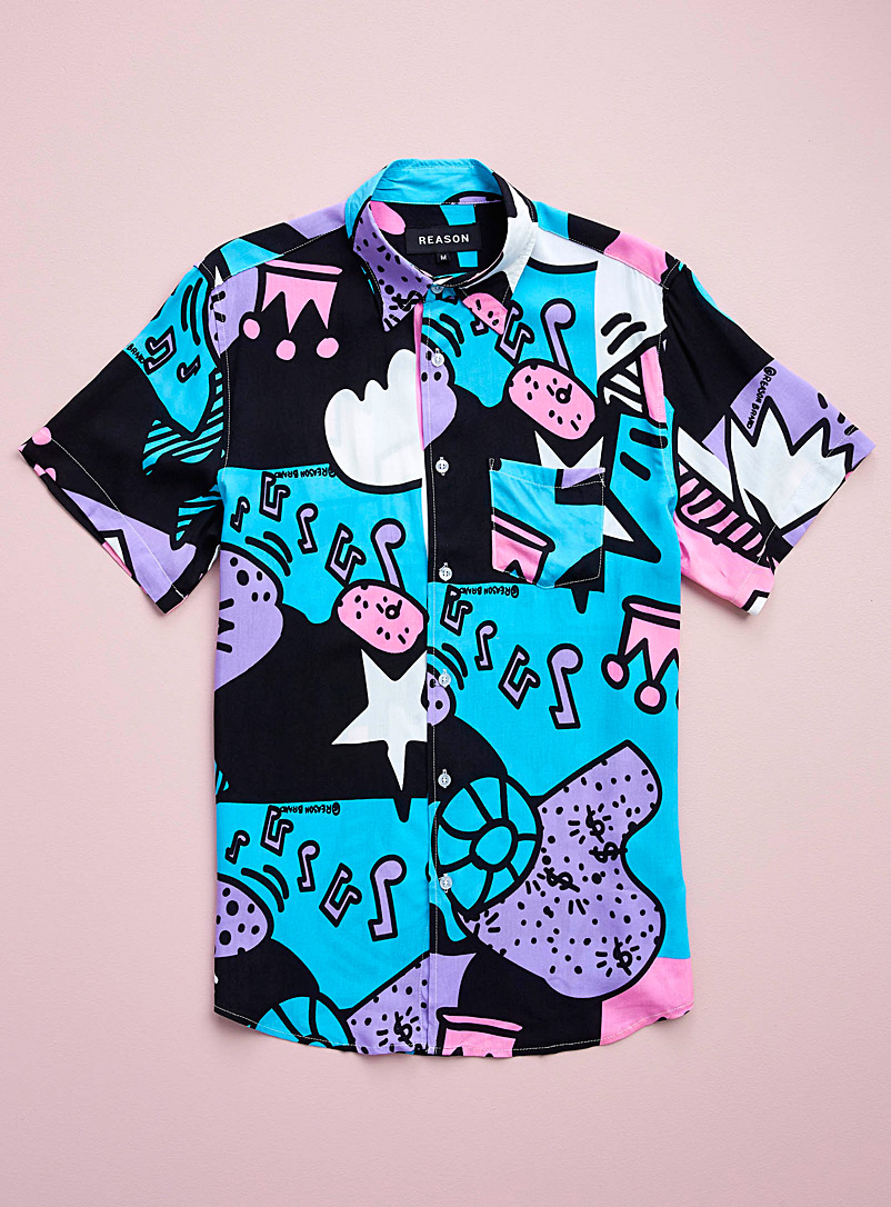 Reason Assorted Pastel pop shirt for men