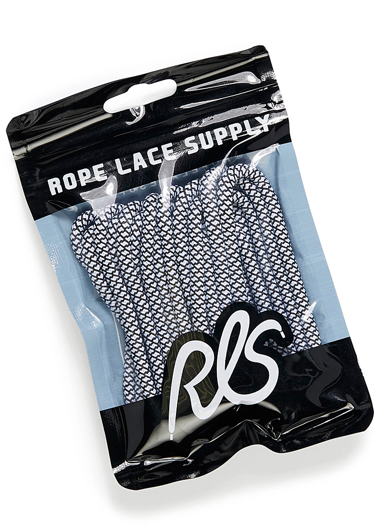 Essential laces  Set of 2 - Accessories & Shoe Care - Patterned Grey