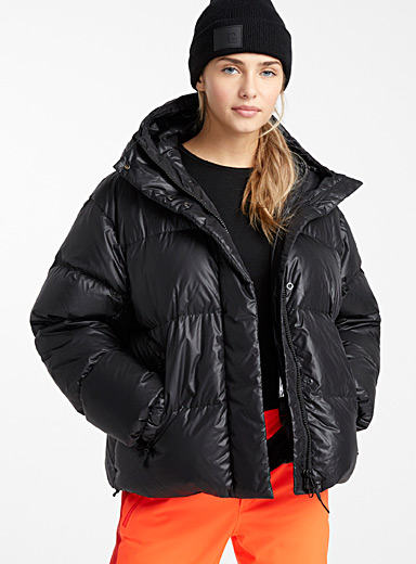 Oversized quilted puffer jacket