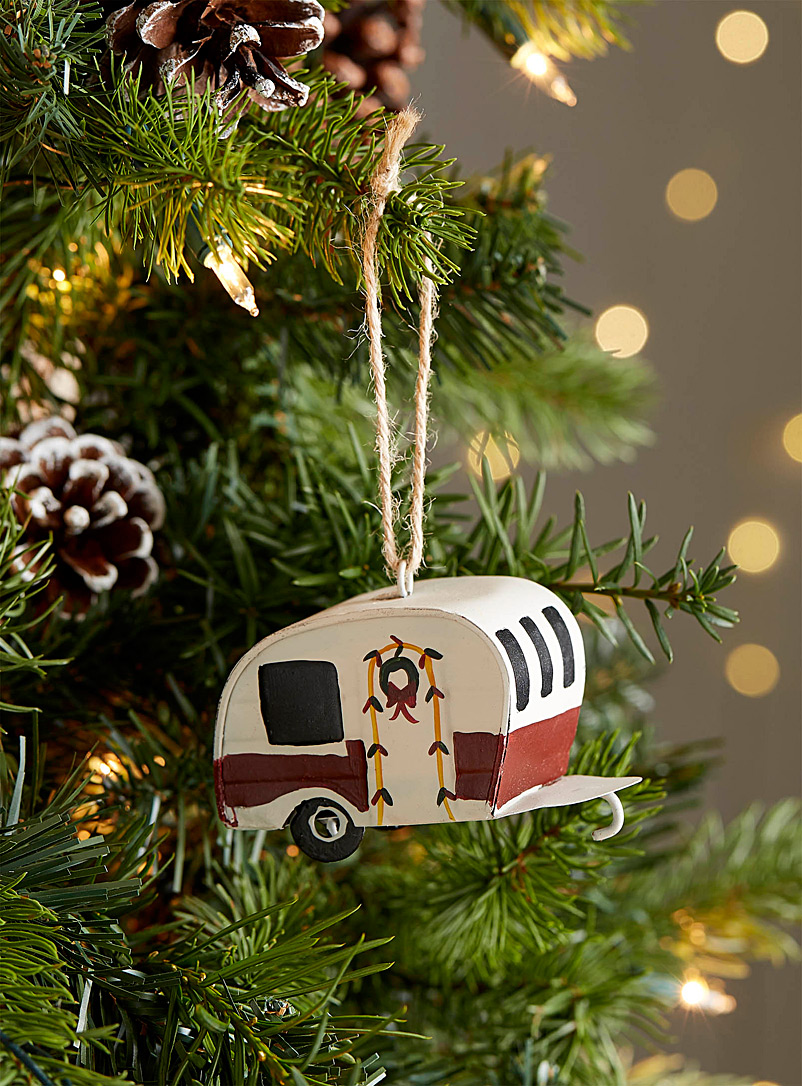 Simons Maison Assorted Festive caravan ornament