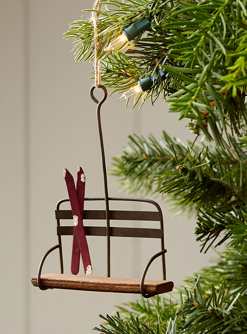 Vintage ski-lift ornament