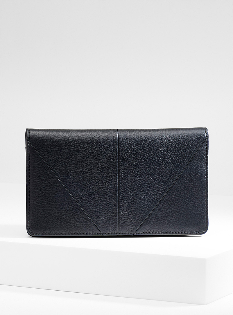 Triple Threat wallet - Leather - Black