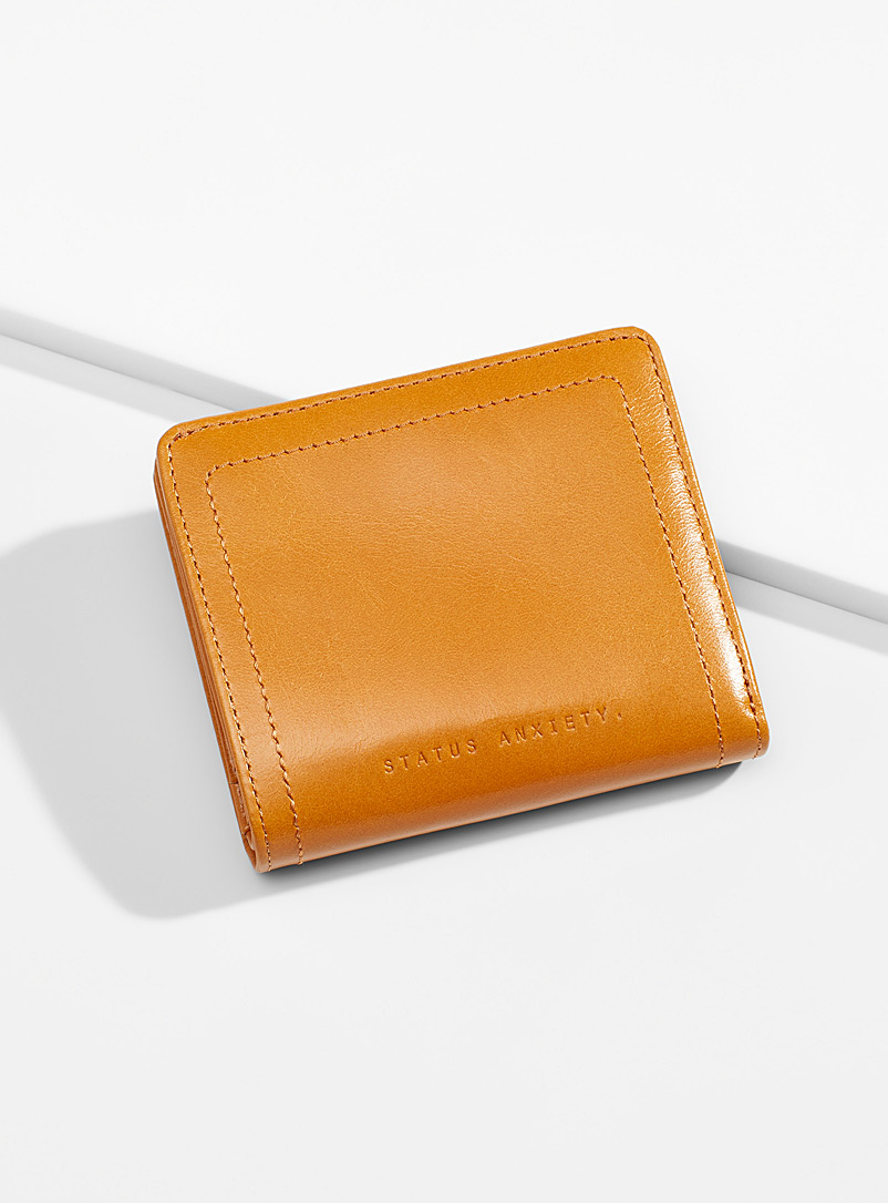 STATUS ANXIETY. Fawn In Another Life leather wallet for women