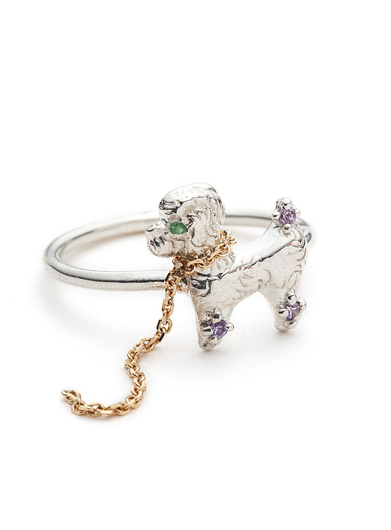 Free Poodle unisex ring - Alexandre Bergeron - Silver