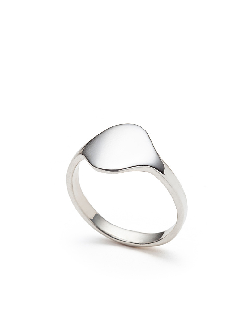 Alexandre Bergeron Silver Unisex signet ring