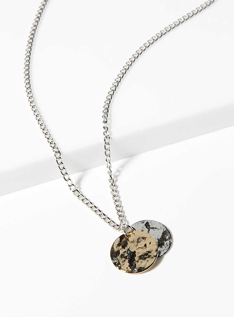 Hammered medallions necklace - Necklaces