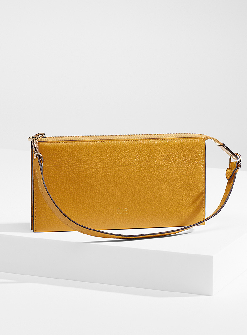 OAD NEW YORK Yellow Mimi clutch for women