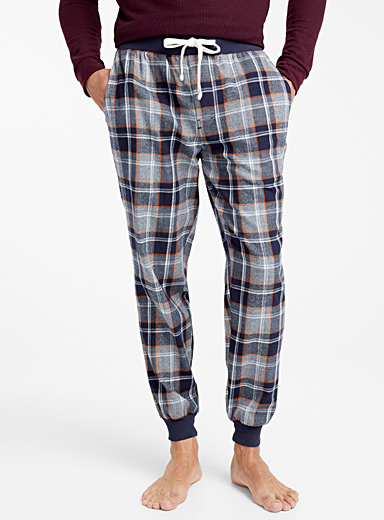 Patterned flannel lounge joggers