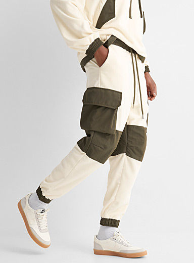 Polar fleece cargo joggers