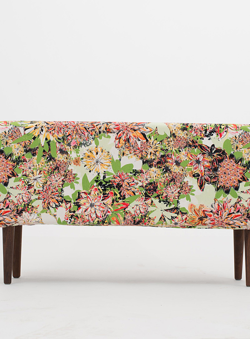Très dion Dusky Pink Colourful floral bench