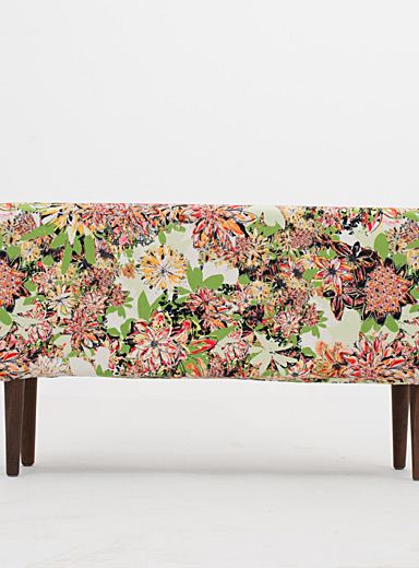 Colourful floral bench