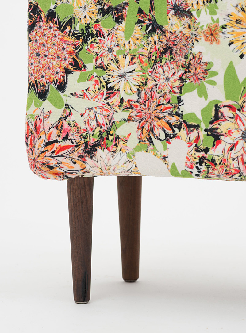 Colourful floral bench - Foutu Tissu - Dusky Pink