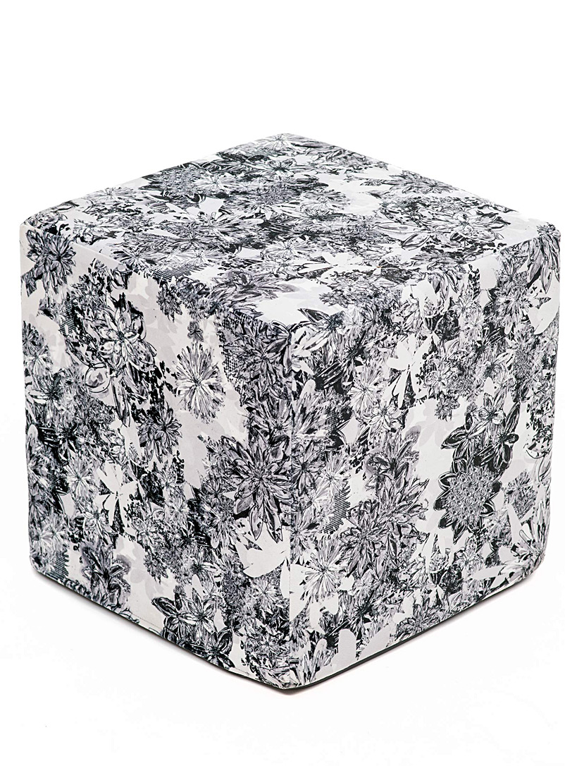 Très dion Black and White Monochrome floral cube