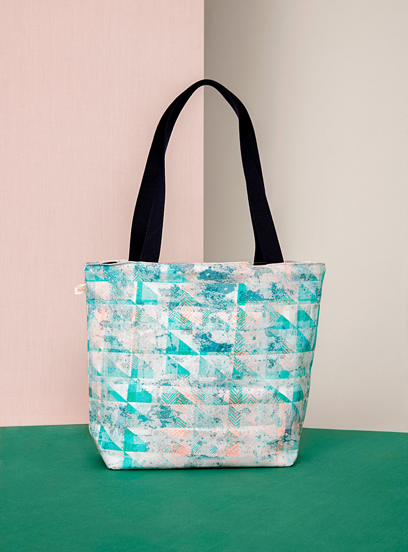 Très dion Teal Altered Repetition tote bag