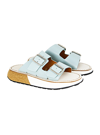 Flamingos Baby Blue Joan sky blue sandals for women