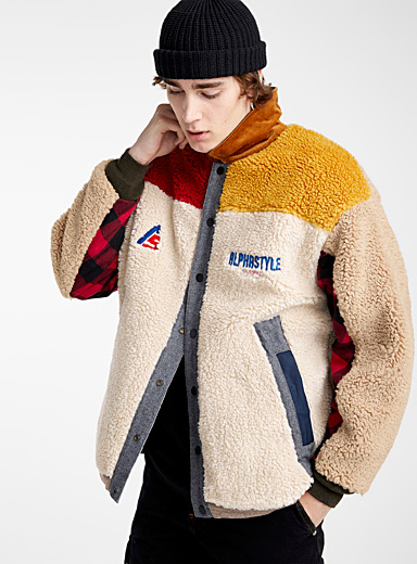 Sherpa quilted reversible jacket