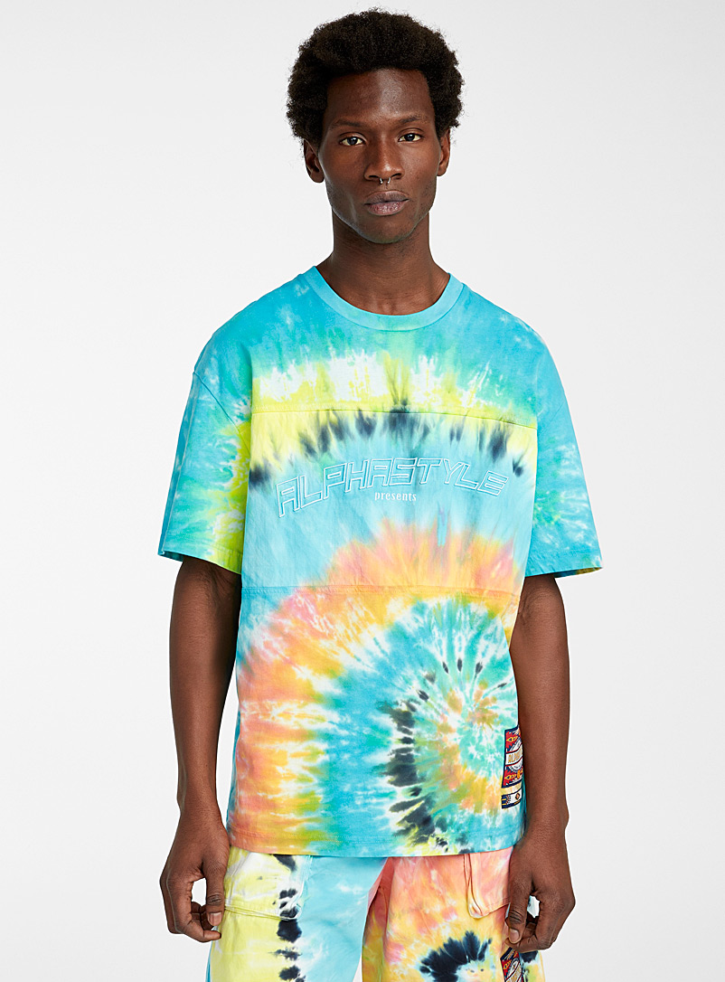 Alphastyle Assorted Tie & Dye T-shirt for men