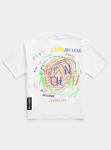 Colourful scribbles T-shirt