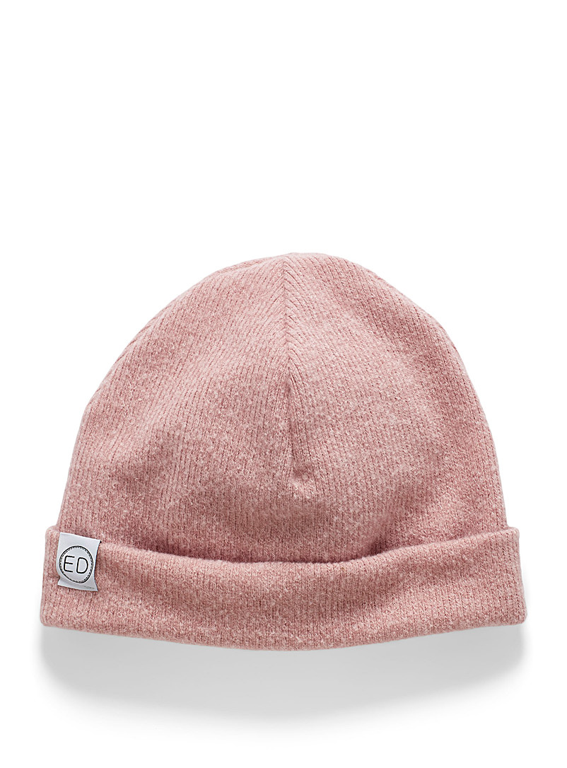 EDdesign Pink Ribbed fine tuque for women