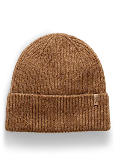 Gleny finely-ribbed tuque