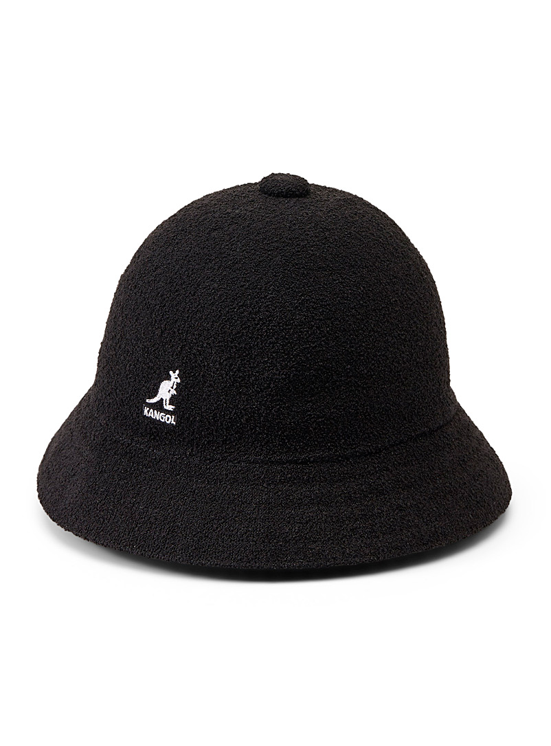 Kangol Black Bermuda Casual terry bucket hat for men