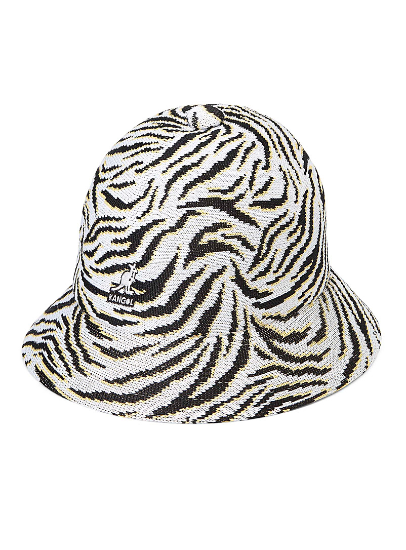 Kangol Patterned Black Carnival Casual zebra bucket hat for men