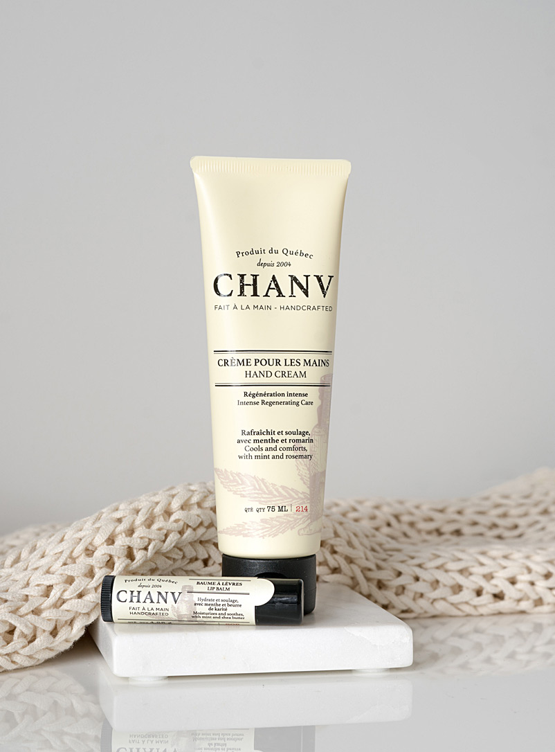 Chanv Cream Beige Hand cream and lip balm set