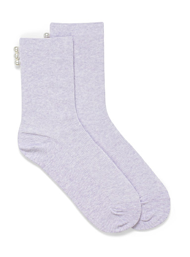 Pearly ankle socks