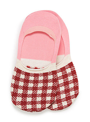 Colourful gingham foot liners
