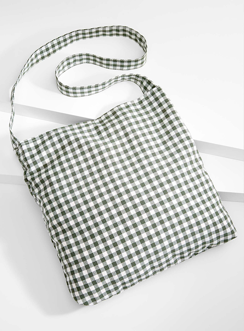 Colourful gingham tote - Tote Bags
