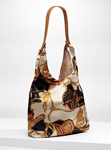 Scarf-like tote and clutch