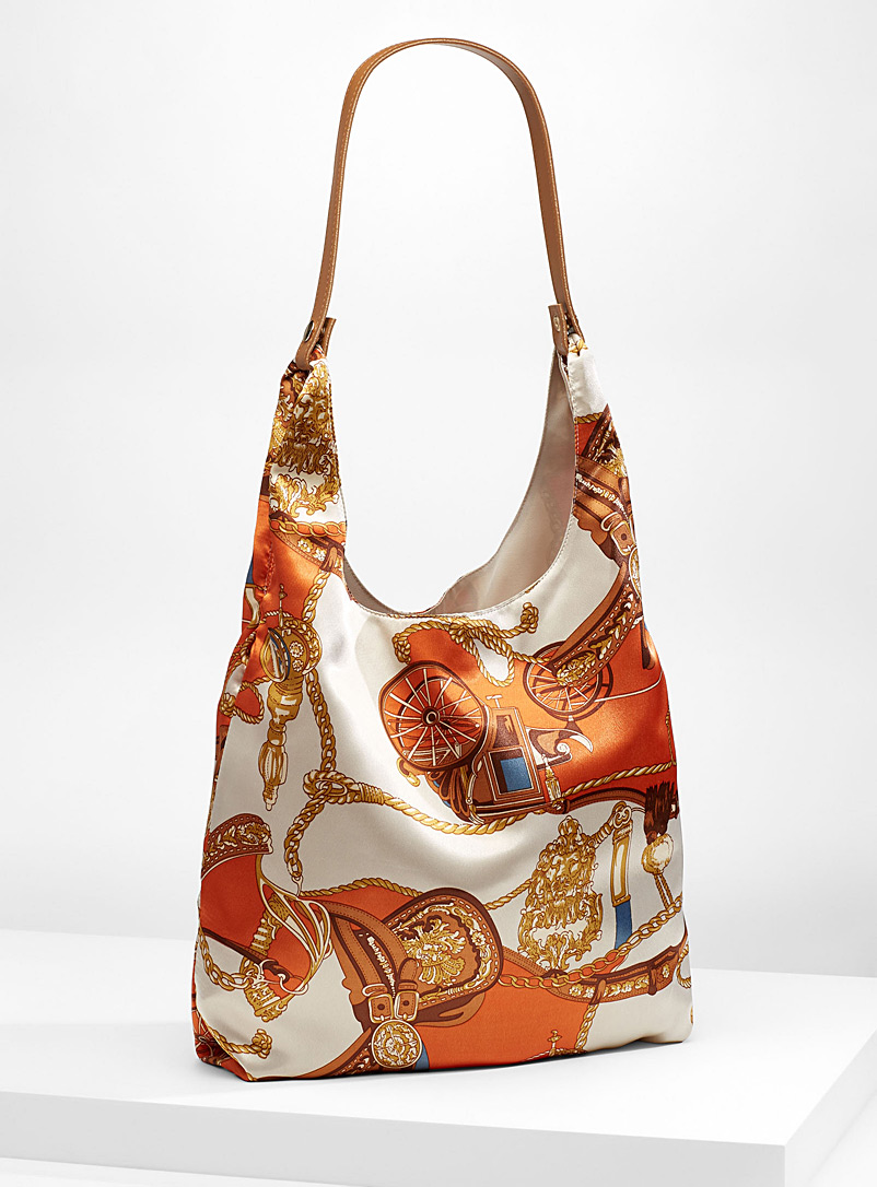 Scarf-like tote and clutch - Tote Bags - Orange