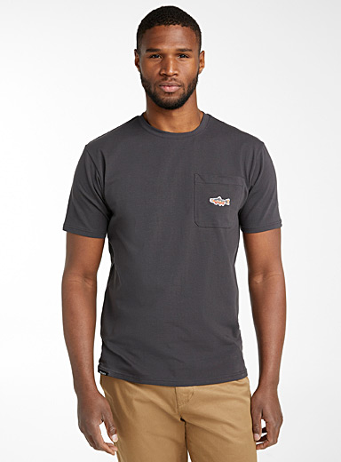 Embroidered trout T-shirt