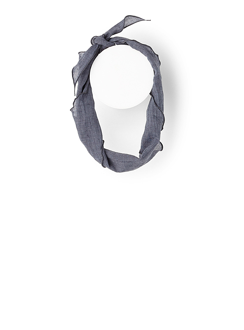 Simons Baby Blue Triangle ruffle scarf for women