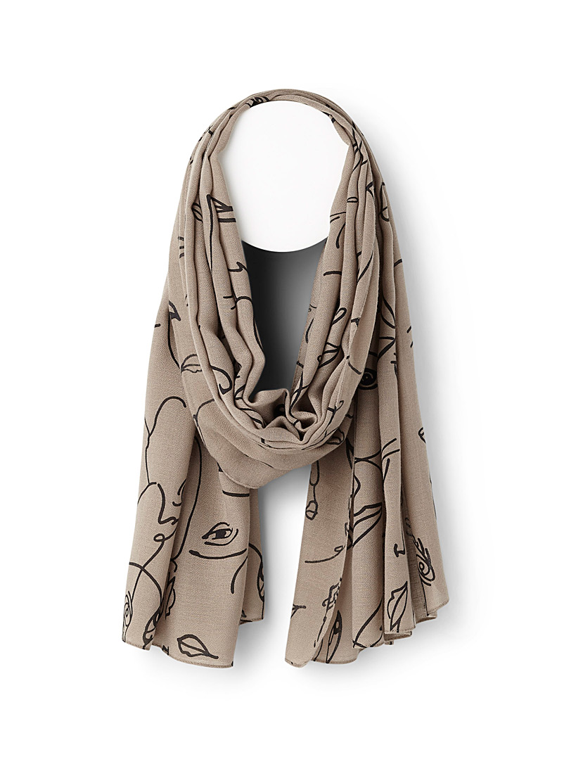 Simons Assorted Modern face scarf for women