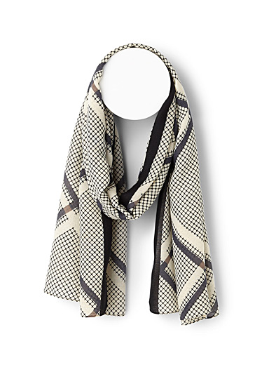 Abstract fabric scarf