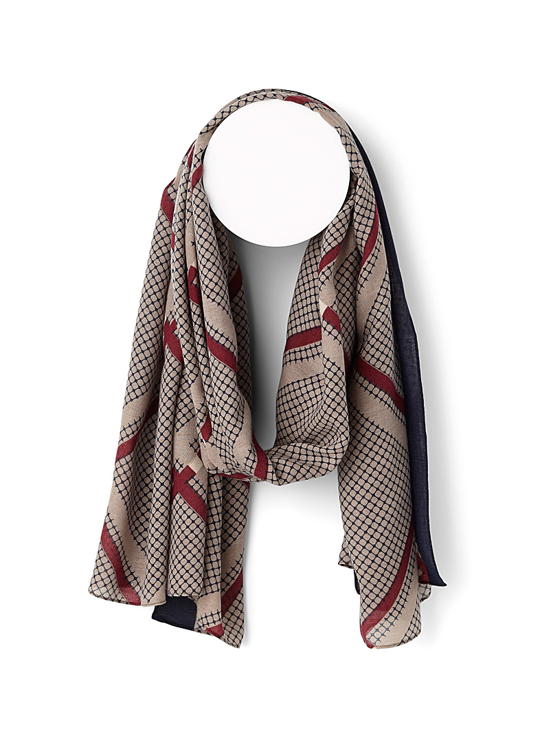 Simons Assorted Abstract fabric scarf for women