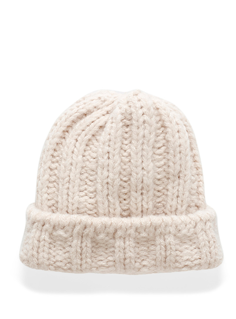 Wide knit cuff tuque - Tuques & Berets - Ivory White