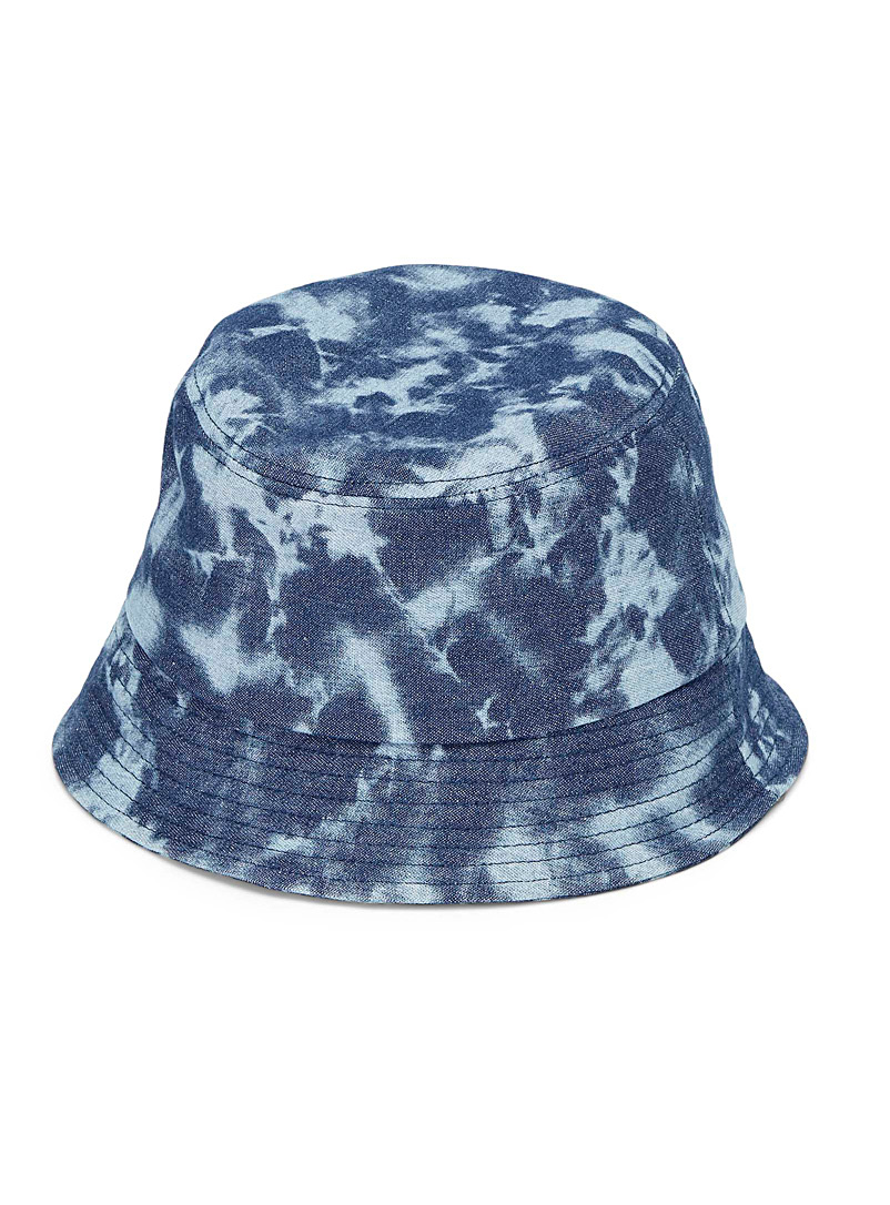 Simons Marine Blue Tie-dye denim bucket hat for women