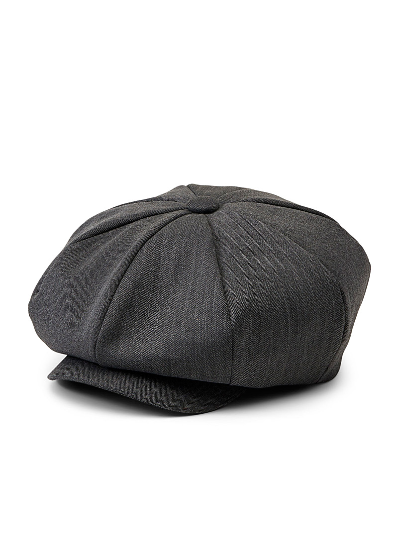 Le 31 Charcoal Chevron driver cap for men