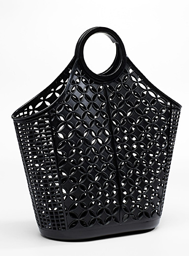 Atomic openwork tote