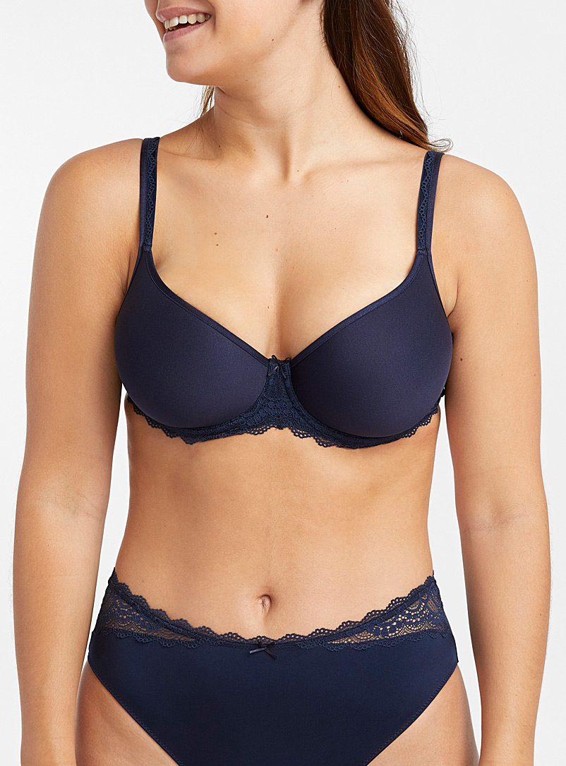 Amorous full coverage bra - T-Shirt - Marine Blue