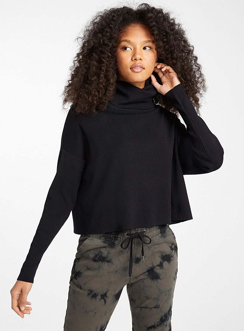 Le pull col tombant court - Pulls