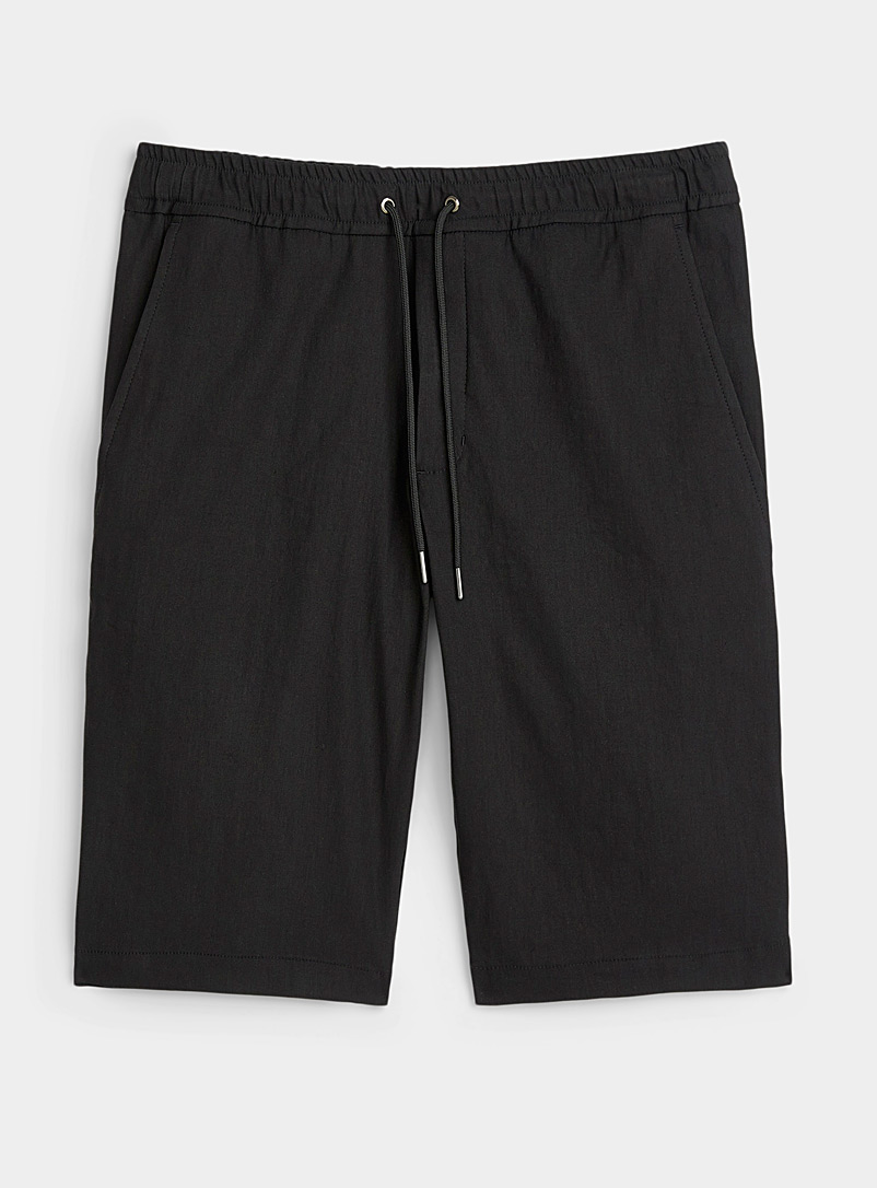 Sarah Pacini MAN Black Linen Bermudas for men