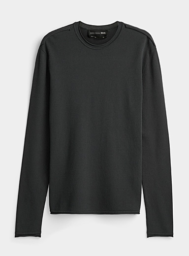 Sarah Pacini MAN Grey Lightweight crew neck sweater for men